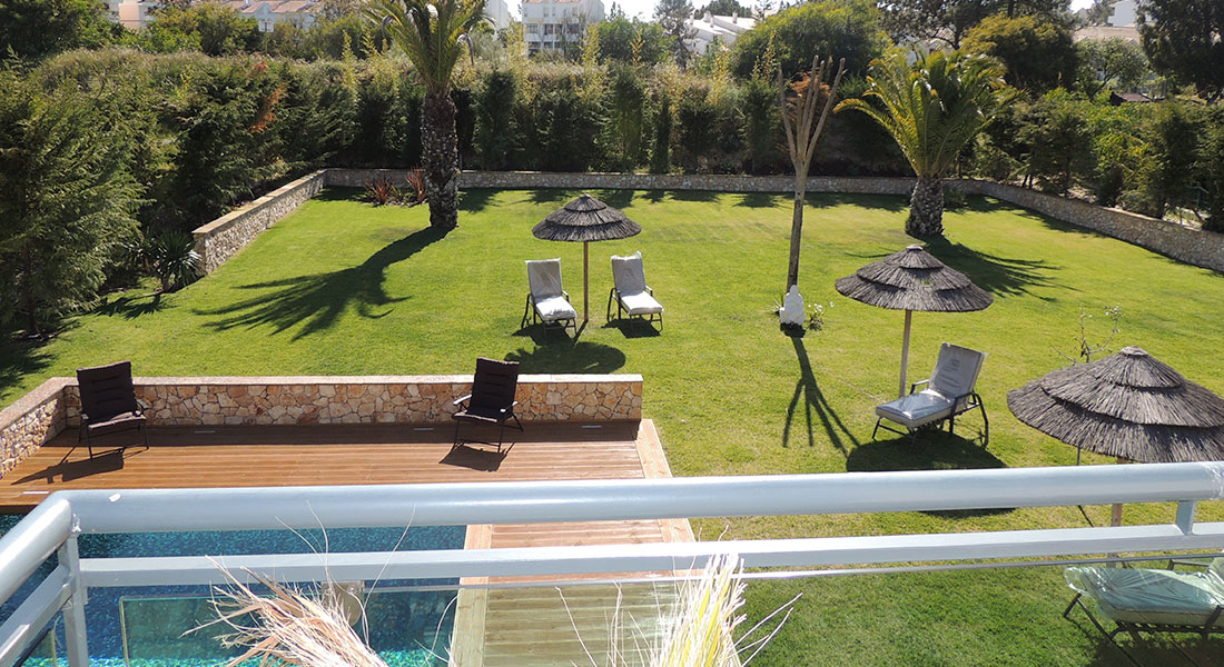 Garden in Villa Troia (house to rent)